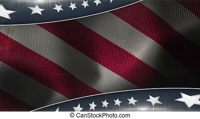 Patriotic background with stars and stripes