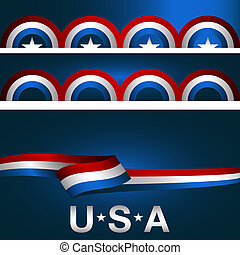 Patriotic Background Banner Set