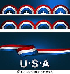 Patriotic Background Banner Set