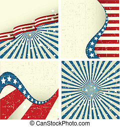 Patriotic Background - Illustration of set of patriotic...
