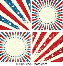 Patriotic Background - Illustration of set of patriotic ...