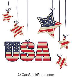 Patriotic background - Illustration Patriotic United States...