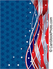 Patriotic Background - Stars and Stripes Fourth of July...