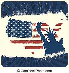 Patriotic background. Vector, EPS10