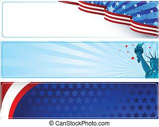 Patriotic banners - Set of patriotic banners