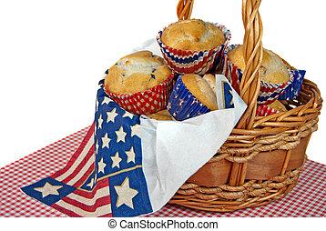 patriotic blueberry muffins