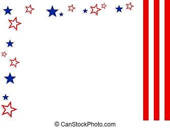 Patriotic Border - Patriotic American border design. Useful...