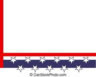 Patriotic Border - Patriotic stars and stripes page corner...