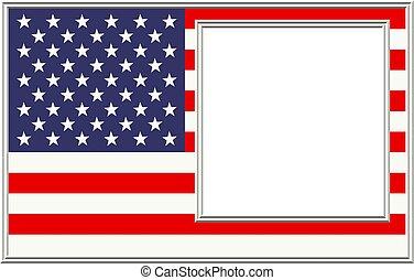 Patriotic Border - American patriotic flag border.