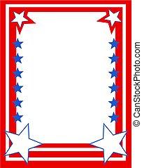 Patriotic Border - Patriotic stars and stripes page border....
