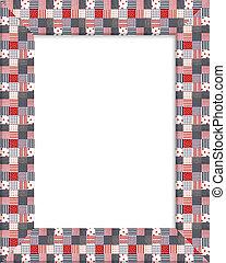Patriotic border patchwork frame