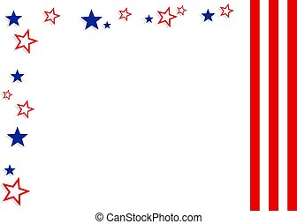 Patriotic Border - Patriotic American border design. Useful...