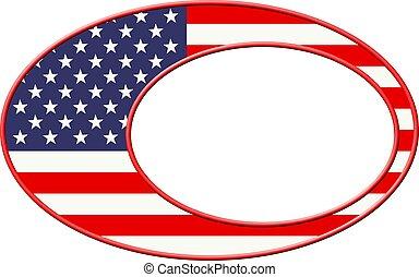 Patriotic Border - Patriotic American flag border.