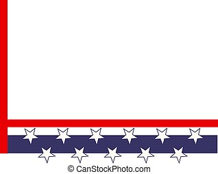 Patriotic Border - Patriotic stars and stripes page corner...