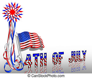 Patriotic Border Stars and Stripes - Illustration stars and...
