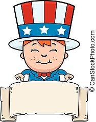 Patriotic Child Banner