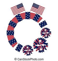 Patriotic Circle Frame