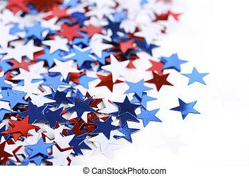 patriotic confetti - Star shaped confetti - perfect as a...