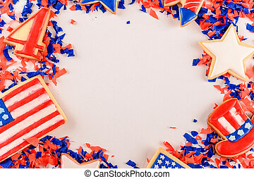 Patriotic cookies for 4th of July.