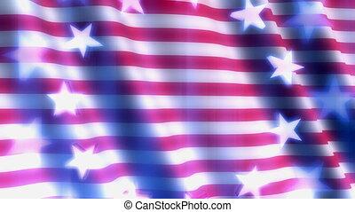 Patriotic Flag Abstract Loop - Looping Animated Background