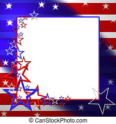 Patriotic Flag Illustration - Square background illustration...