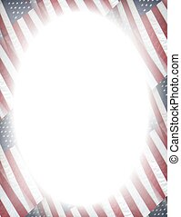 Patriotic frame - Elegant patriotic frame with white oval...