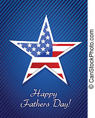 patriotic happy fathers day proud card illustration design ...