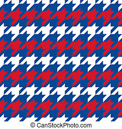 Patriotic Houndstooth 1