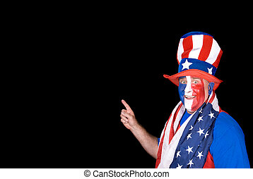 Patriotic man on July Fourth