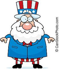 Patriotic Man Smiling