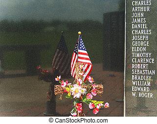 Patriotic Memorial Wall