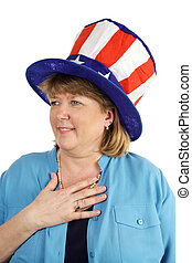 Patriotic Military Wife - An attractive military wife saying...