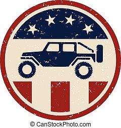 Patriotic Off Road 4wd Logo
