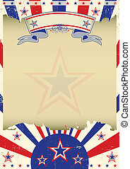 Patriotic parchment background