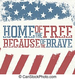 Patriotic poster design template. Independence Day Celebration greeting card of 4th july