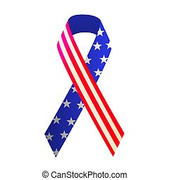 Patriotic red, white, and blue ribbon