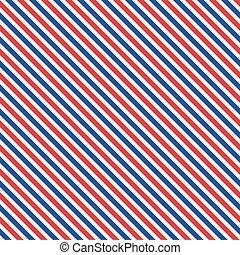 Patriotic red, white, blue geometric seamless pattern