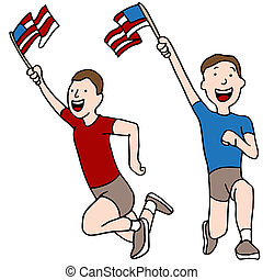 Patriotic Runners