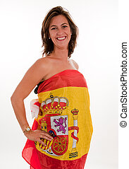 Patriotic Spanish woman - Isolated picture of a woman...