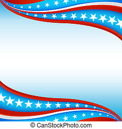 Patriotic Star Banner Background - An image of a patriotic...