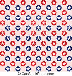 patriotic star dots pattern background