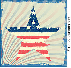 patriotic star on a striped background