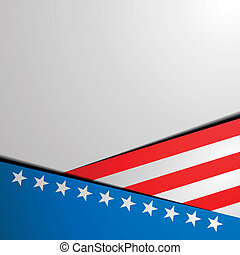 patriotic stars and stripes background - detailed...
