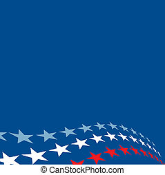 A background illustration of red, white and blue stars