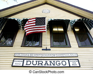Patriotic Station - Narrow gauge railroad station in...