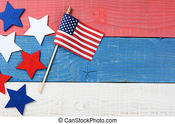 Patriotic Table Still life - High angle shot of an American...