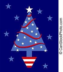 Patriotic Tree - American patriotic Christmas tree.