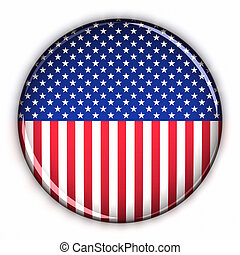 Patriotic USA button