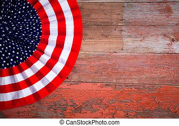 patriotique, écusson, jour, indépendance