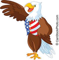 patriotique, aigle, américain